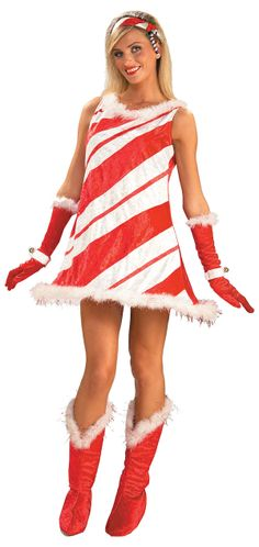 Miss Candy Cane Christmas Costume - Sexy Costumes