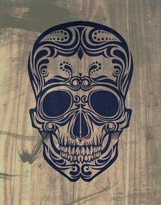 Sugar Skull Tattoo Design | aqua,projekto | Pinterest
