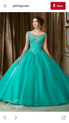 Jeweled Beaded Satin Bodice on a Tulle Ball Gown Pretty quinceanera dresses, 15 dresses, and vestidos de quinceanera. We have turquoise quinceanera dresses, pink 15 dresses, and custom quince dresses! Dressy Dresses, 15 Dresses, Ball Dresses, Ball Gowns, Fashion Dresses, Aqua Dresses, Wedding Dresses, Bride Dresses, Short Dresses