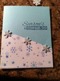 Blank-Boxed Seasons Greeting Snowflake Christmas Card (8 Cards and Envelopes) #Handmade #Christmas