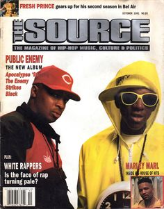 The Source (October 1991) featuring Public Enemy