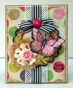Contemporary and stylish, we love these brave colour/pattern combos - what a FAB card. #papercrafterpick