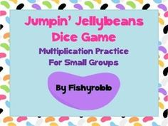 FREE Small group dice game for practicing multiplication facts
