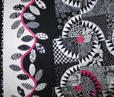 Very playful w&b quilt by Laura333, via Flickr