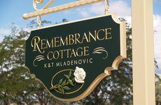 Remembrance Cottage Sign / Danthonia Designs