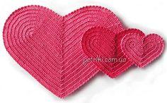 Mis Pasatiempos  Amo el Crochet: Corazones