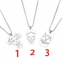 Wish | New Suicide Squad Necklace Harley Quinn Joker Stainless Steel Pendant Beaded Chain for Women and Men DC Comic Superhero fans