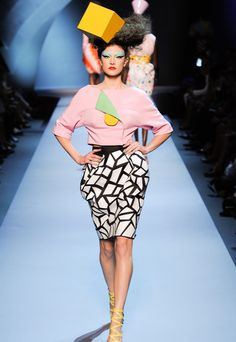 Christian Dior Haute Couture inspired by Memphis Milano Movement