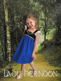 My Fairy Tale Charming Dress: Anna - Sizes 2T, 3T, 4T, 5, 6, 7, 8 and 10 on Etsy, $50.00