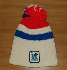 17e227d8 Vintage 1980 Lake Placid Olympic Winter Games Pom Pom Beanie Stocking Hat  #Stanley #USA
