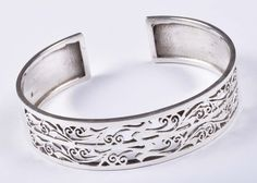 925 Solid Sterling Silver Bangle Stylish Jali Work Easy to Sizable JSBG-27 #Handmade #Bangle