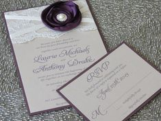 SABRINA Deep Plum Purple and Champagne Lace by peachykeenevents