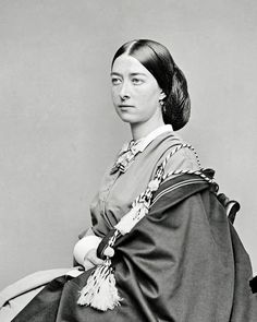 Unidentified woman, ca. early 1860s.   In the Swan's Shadow