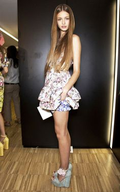 Kristina Romanova backstage @ DG #fashion #models