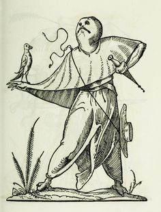 Highlights from a book of 120 woodcuts depicting a series of fantastically bizarre and grotesque figures, reminiscent of some of the more inventive and twisted creations of Brueghel or Bosch. Medieval Drawings, Medieval Art, Symbolic Art, Image Theme, Occult Art, Historical Art, Effigy, Monster, Fantasy Creatures