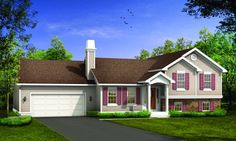 Browse our large selection of house plans to find your dream home. Modifications and custom home design are also available. Dream House Plans, Small House Plans, Custom Home Designs, Custom Homes, Affordable House Plans, Cottage Plan, Country Style, Shed, Farmhouse