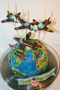 easy airplane cake use whipped cream frosting cake First