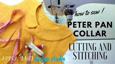 how to sew peter pan collar cutting and stitching easy Peter Pan Collar Blouse, Peter Pan Collars, Sewing Hacks, Sewing Tutorials, Sewing Patterns, Dress Neck Designs, Kurti Neck Designs, Collar Kurti Design, Sewing Collars