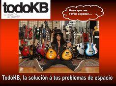 www.todokb.com TodoKB Selfstorage, el lugar ideal para guardar los equipos de tu banda de rock. Slash