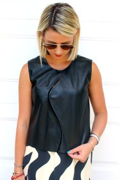 Shotguns & Seashells wearing @RAOUL! www.shotgunsandseashells.com (fashion blogger) black + white