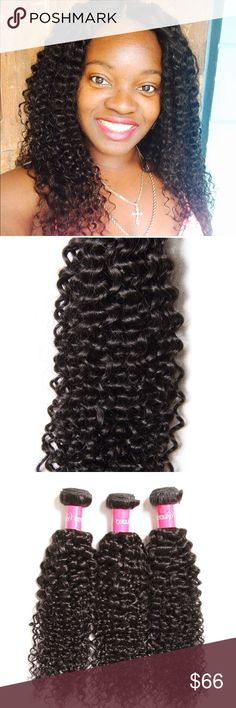 Brazilian Curly Virgin Hair 3 Bundles New in package! Brazilian Curly Virgin Hair 3 Bundles Remy  Curly Weave Human Hair Extensions (8 10 12inch) Size- Natural Color Smoke free and pet home! Other