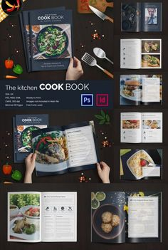 If you are enthusiastic about cooking and want to see your recipes in a cookbook to gift it to someone or to keep it in your kitchen for reference,… Book Design Templates, Recipe Book Templates, Cookbook Template, Cookbook Pdf, Cookbook Recipes, Cookbook Ideas, Graphic Design Magazine, Magazine Layout Design, Book Design Layout