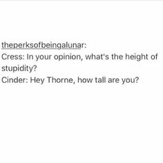 Image result for cress and thorne
