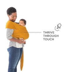 """Tuesday Tip // """"Medical professionals agree that infants thrive through touch. Wearing your baby is another way to meet this need!""""   Solly Baby"""