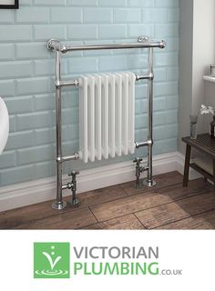 Keswick Traditional Heated Towel Rail Radiator at Victorian Plumbing UK A traditional hea. Keswick Traditional Heated Towel Rail Radiator at Victorian Plumbing UK A traditional hea…, Metro Tiles Bathroom, Bathroom Interior, Upstairs Bathrooms, Small Bathroom, Bathroom Ideas, Modern Bathrooms, Family Bathroom, Bathroom Designs, Bad Inspiration
