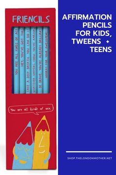 Remind kids, tweens and teens how great they are with these positive 'Friencils' pencils. The pack contains a set of six HB pencils, each Friencils has a different phrase on each pencil. Pencil Text: You're All Kinds Of Ace Hey, You've Got This Take A Deep Breath, You Can Do It Whatever Happens, Know You're Amazing Be Brave, You're Already Brilliant Hooray For Your Awesomeness. #giftideas #backtoschool #affirmations #giftsforhim #giftguide #giftsforher