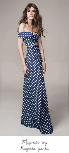 Johanna Ortiz Spring Summer 2016 Look 17 on Moda Operandi Cropped Tops, Runway Fashion, High Fashion, Polka Dot Crop Tops, Polka Dots, Spring Summer 2016, Elegant, Beautiful Outfits, Dress To Impress