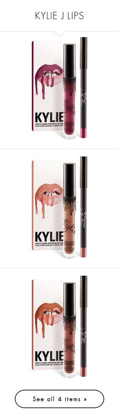 """KYLIE J LIPS"" by killasuki ❤ liked on Polyvore featuring beauty products, makeup, lip makeup, lips, lipstick, beauty, filler, lip, dirty peach and kylie"