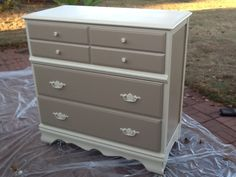 Painted dresser...like the 2 tone