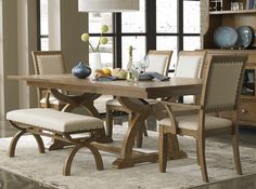 Liberty Furniture Dining Sets - Tahoe 6 Piece 90x40 Rectangular Dining Room Set w/ Bench in Mahogany. Cabin Fever 60x36 Rectangular Kitchen Island #diningroomset #diningset #diningtable #diningroom #diningfurniture #DiningRoomIdeas #HomeDecor #InteriorDesigner #HomeDecorating #interiordesign #furniture #efurnituremart #HomeDecorator #decor #roomdecorating - eFurnitureMart, eFurniture Mart