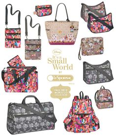 "LeSportsac and Disney began their partnership last summer - bringing us handbags, totes, and accessories featuring the artwork of Mary Blair, whose whimsical design can be seen in Disney's ""It's A Small World"" ride. The full line of products will include 5 limited edition collections, each inspired by a different country. The patterns themselves pay tribute not only to the characters, but also the architecture and designs featured throughout the ride itself.   So far LeSportsac has taken us…"