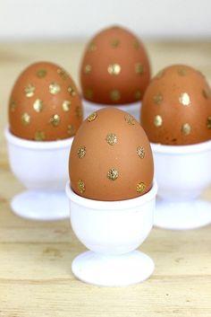 Gold Polka Dot Easter Eggs