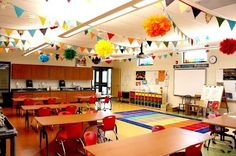 """LOVE this classroom ceiling """"party"""" that is going on ... to bad our district won't let us hang anything from our ceilings... sad."""