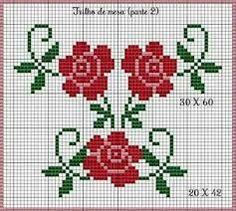 Resultado de imagem para flores em ponto cruz pequenas