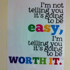 Dorm room crafts: quote poster