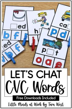 Searching for CVC word activities for kindergarten? These hands on activities are highly engaging and simple to prepare. Click the pin to check out a huge variety of CVC word activities, including some freebies too!