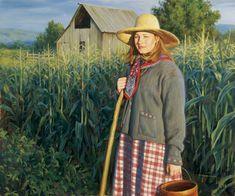 """""""Sarah's Garden"""", by American artist - Robert Duncan (1952 - )"""