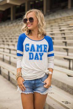 Game Day Baseball Tee Royal Blue CLEARANCE
