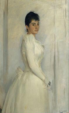 The Athenaeum - Portrait of Montserrat Carbó (Ramon Casas y Carbó - )