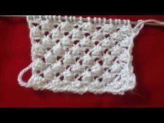 YouTube Lace Knitting Stitches, Baby Knitting Patterns, Stitch Patterns, Filet Crochet, Knit Crochet, Crochet Hats, Kind Mode, Knitwear, Diy And Crafts
