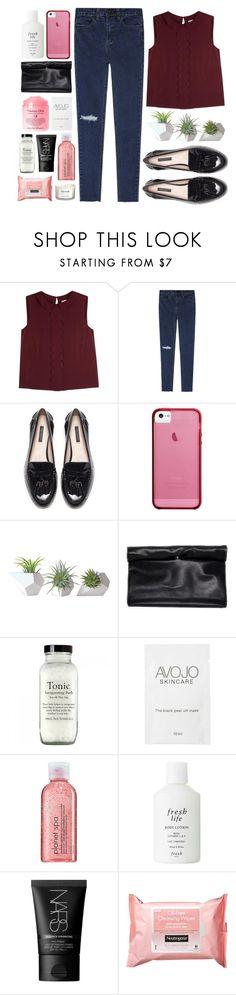 """'"" by oramivedi ❤ liked on Polyvore featuring RED Valentino, Zara, Haze, Dot & Bo, Avon, Fresh, NARS Cosmetics, Neutrogena, Shay and NEOM Organics"