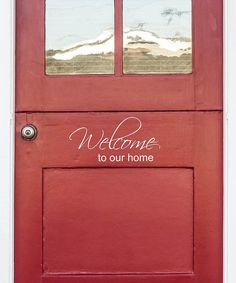 Look at this 'Welcome to Our Home' Decal on #zulily today!