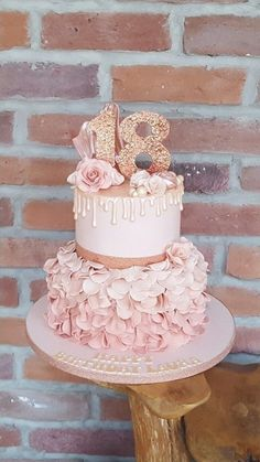 18th Birthday Cake For Girls, Birthday Cake Roses, Sweet 16 Birthday Cake, 21st Birthday Cakes, Beautiful Birthday Cakes, 17th Birthday, 18th Birthday Gifts For Best Friend, 18th Birthday Ideas For Girls Themes, Debut Theme Ideas 18th