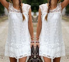 Summer Dress Sexy Women Casual Sleeveless Beach Short Dress Tassel Solid White Mini Lace Dress   http://www.dealofthedaytips.com/products/summer-dress-sexy-women-casual-sleeveless-beach-short-dress-tassel-solid-white-mini-lace-dress/