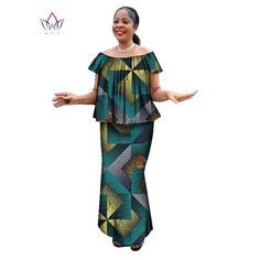 Special Use: Traditional Clothing Item Type: Africa Clothing Type: Dashiki Gender: Women Material: Cotton Type: Dashiki Material : Cotton Special Use : Traditional Clothing Gender : Women Item Type : Africa Clothing Is Customized : Yes Fit : Fits smaller African Wear Dresses, African Fashion Ankara, African Fashion Designers, Latest African Fashion Dresses, African Print Fashion, Africa Fashion, African Attire, African Outfits, Ankara Skirt