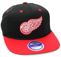 1df3a66400b Detroit Red Wings Flat Bill Logo Style Snapback Hat Cap Black Red NHL.   14.99. Smith Ramie · Sports   Outdoors